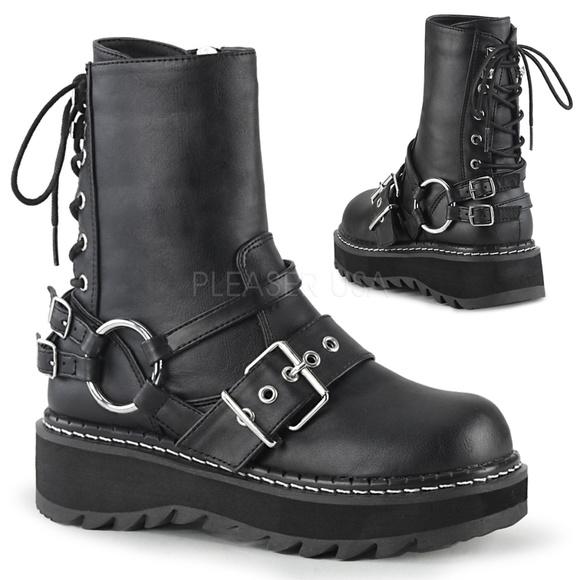 9e9d9d97ec Shoes | Gothic Platform Laceup Back Buckle Ankle Boots | Poshmark